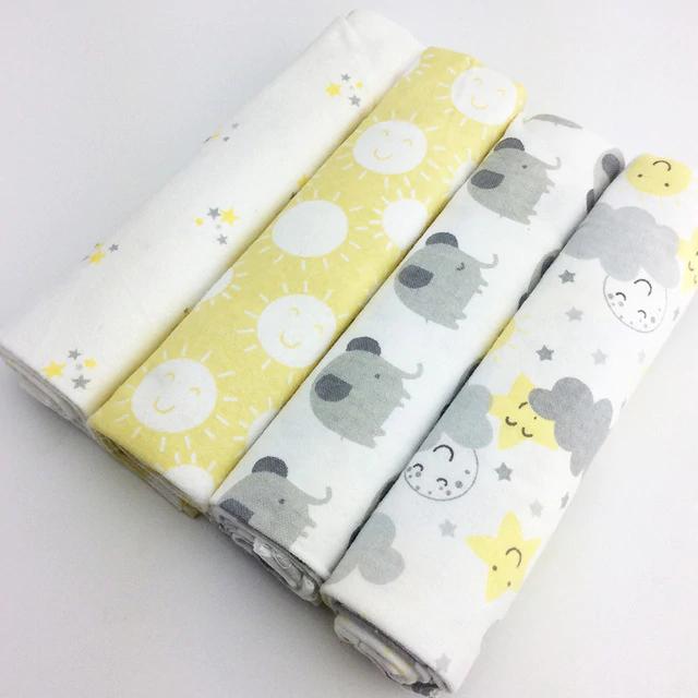 4pcs Pack 100 Cotton Newborn Colorful Blanket Newborn Baby Bedding Cotton Baby Blankets Newborn Crib