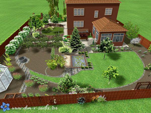 ландшафтный дизайн загородного дома 10 соток фото 2