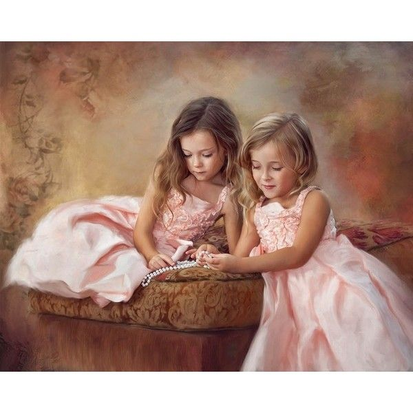 10 art du portrait par divers artistes - Page 11 ❤ liked on Polyvore featuring children