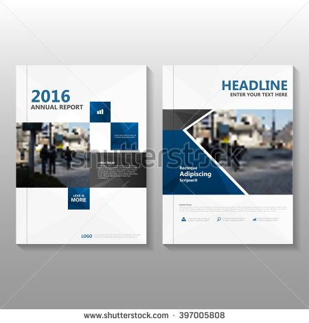 Blue Black Elegance Vector Annual Report Leaflet Brochure Flyer