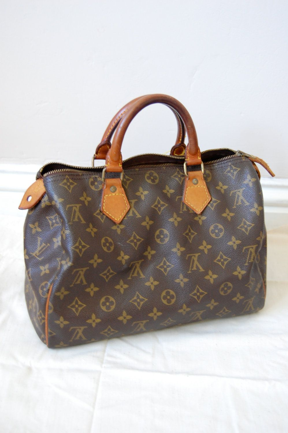 18a1fc55214b8 Vintage Authentic Louis Vuitton Speedy 30 Handbag Purse Tote Shoulder Bag LV