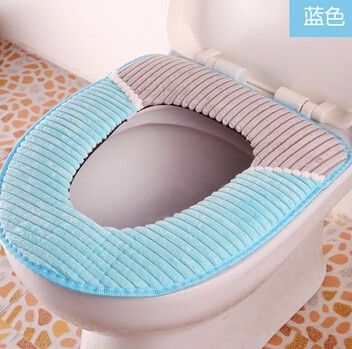 Free Ship Winter Toilet Seat Warmer Coral Fleece Thicken Carpet