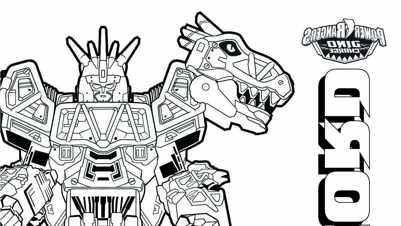 Coloriage De Power Ranger Dino Charge Power Rangers Megazord