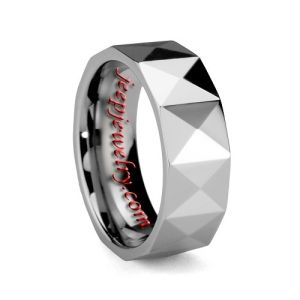 Wholesale 8MM RAISED PYRAMID PATTERN POLISHED COMFORT FIT TUNGSTEN RING - $ 7.20 : Tungsten Rings Tungsten Jewelry by xiaoguodeshijie