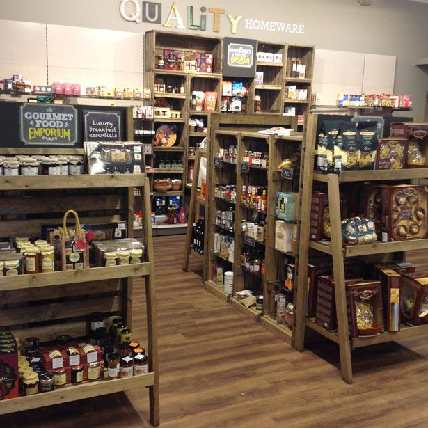Homesense food emporium rustic display ideas from www for Discovery 24 shop