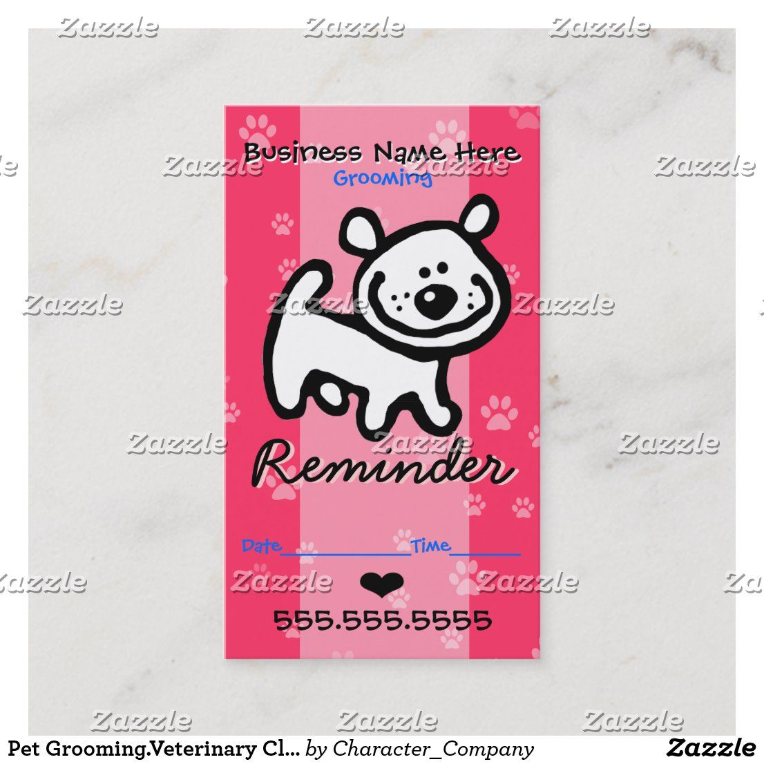 Pet Grooming Veterinary Clinic Dog Appointment Zazzle Com In 2020 Paw Print Design Pets White Puppies