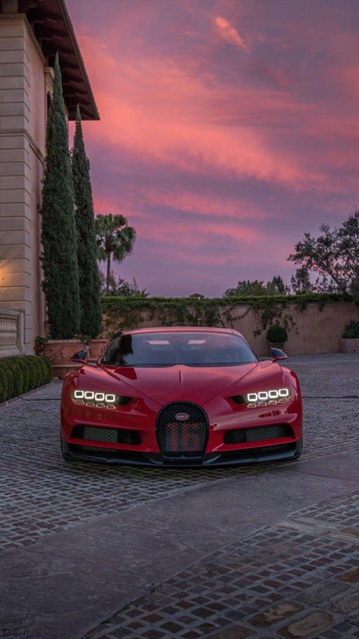 Bugatti Chiron Wallpaper Red Hd Kenderaan