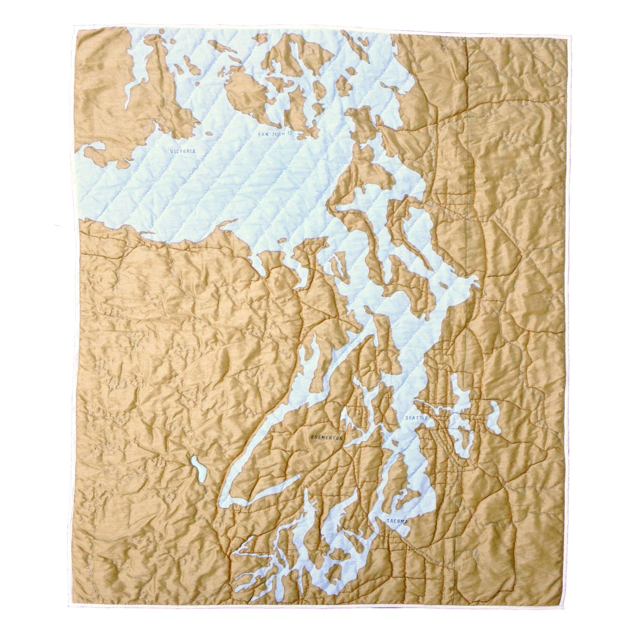 Puget Sound Quilt Coastal quilts, Map quilt, Unique