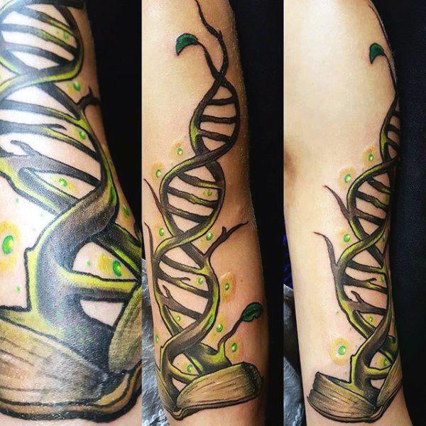 Top 100 Best Science Tattoos For Men Manly Design Ideas Tattoos For Guys Science Tattoos Dna Tattoo