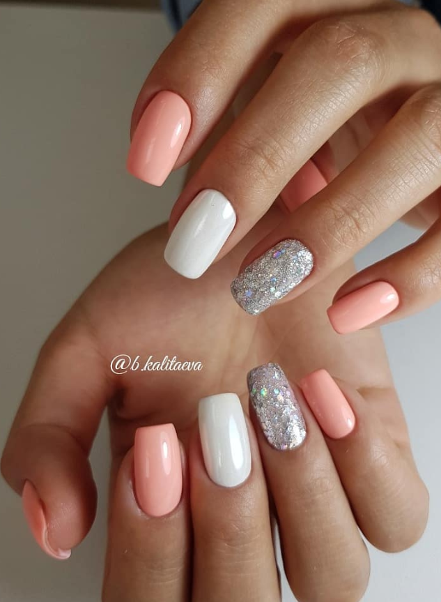 65 Summer Chic Short Sqaure Nails Design To Look Great Square Acrylic Nails Short Acrylic Nails Designs Short Gel Nails