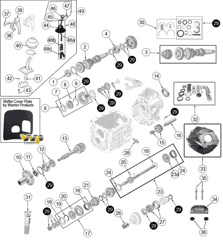 Interactive Diagram Jeep Cj5 T5 Transmission Parts