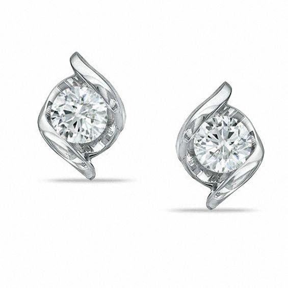Zales Merit Diamond Corporation Sirena 1 2 Ct T W Stud Earringsdiamond