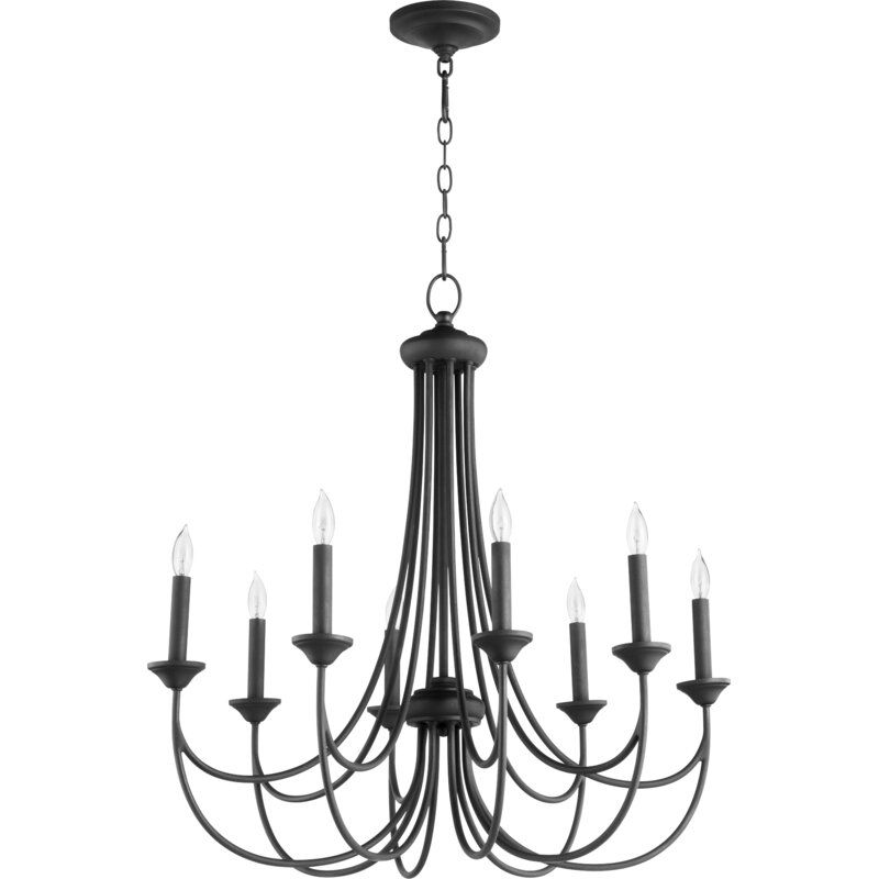 Polito 8 Light Candle Style Classic Traditional Chandelier In