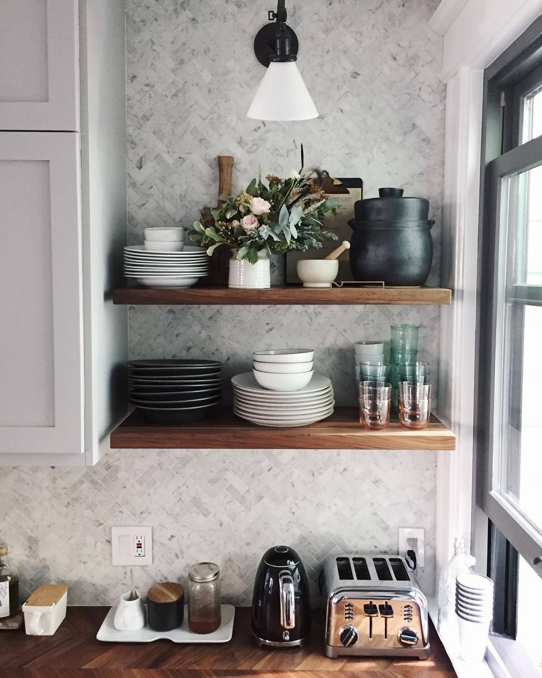 BRYN SMITH Floating shelves, Floating shelves kitchen