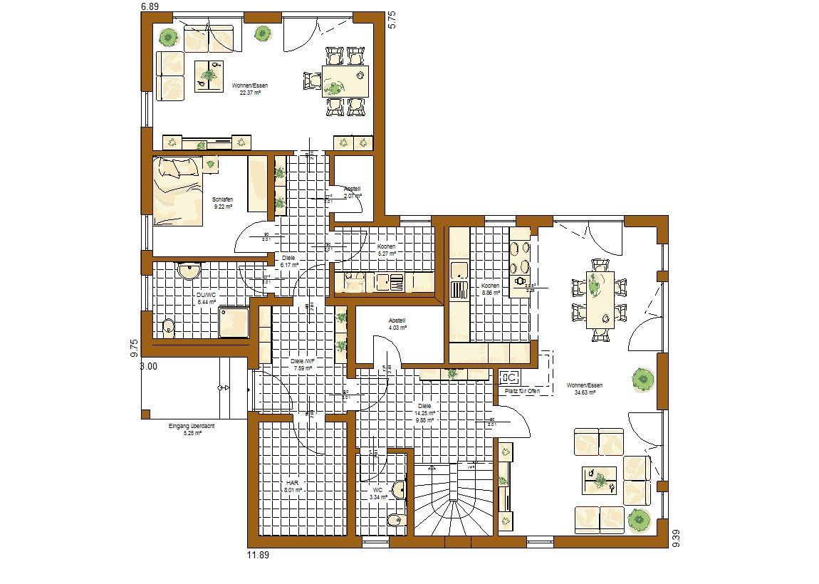 Savona Grundriss Erdgeschoss Häuser/Grundrisse