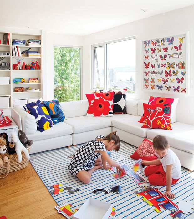 Colorful Family Room Ideas Part - 15: 10 Family-Friendly Living Rooms Youu0027ll Want To Hang Out In. Toddler  PlayroomPlayroom IdeasColorful Family RoomsLiving Room ...