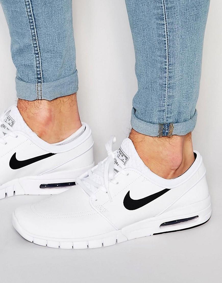 Nike Sb Stefan Janoski Max Leather Trainers 685299 100 At Asos Com Nike White Dress Shoes Men Trainers Fashion