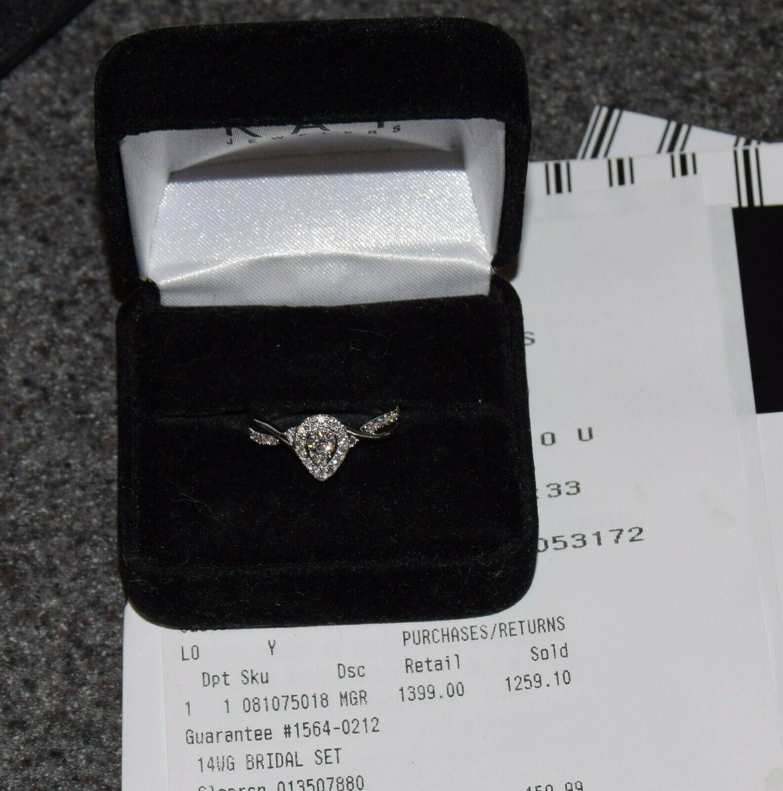 Kay Jewelers 3 8 Cttw 14k White Gold Diamond Halo Engagement Ring 081075018 Sz 6 Black Diamond Ring Engagement Black Diamond Ring Kay Jewelers Engagement Rings