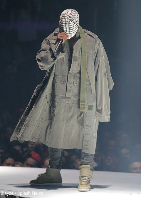 Who Designs Kanye S Masks How Can He See Out Of Them Meaning Kanye West Yeezus Kanye West Mask Kanye West Style