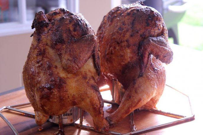 how to make beer can chicken in a smoker
