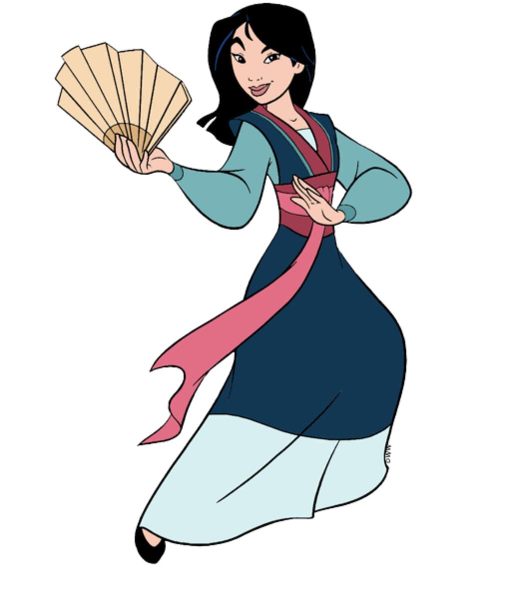 Mulan With Her Beautiful Chinese Fan Mulan Disney Disney Princess Pregnant Mulan