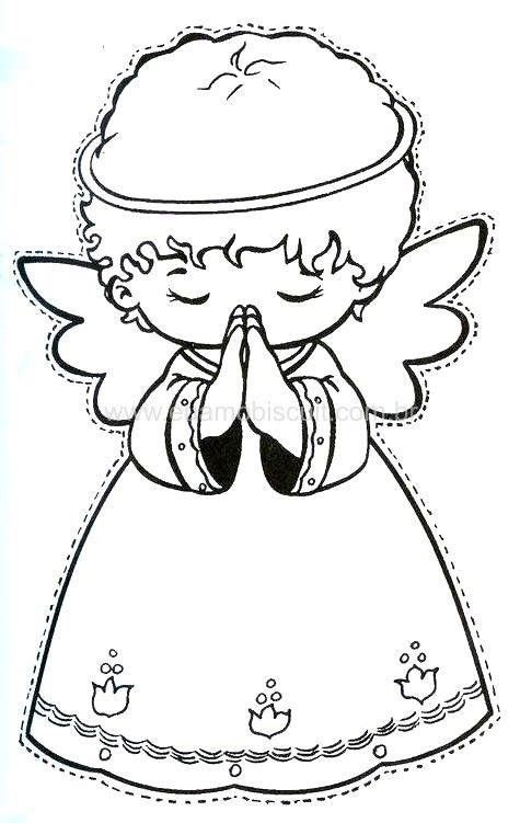Pin by Louise L on Angels   Pinterest   Navidad, Ángeles and Dibujos
