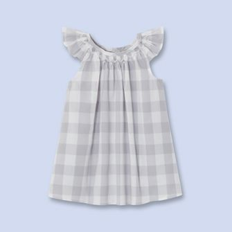 robe chasuble sans manches gris blanc fille v tement b b jacadi paris girl fashion ss16. Black Bedroom Furniture Sets. Home Design Ideas