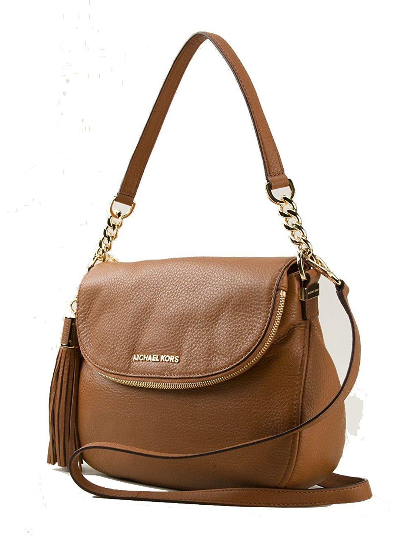 8adaf19a44ce Michael Kors Bedford Medium Tassel Crossbody Leather Bag - Black  Handbags   Amazon.com