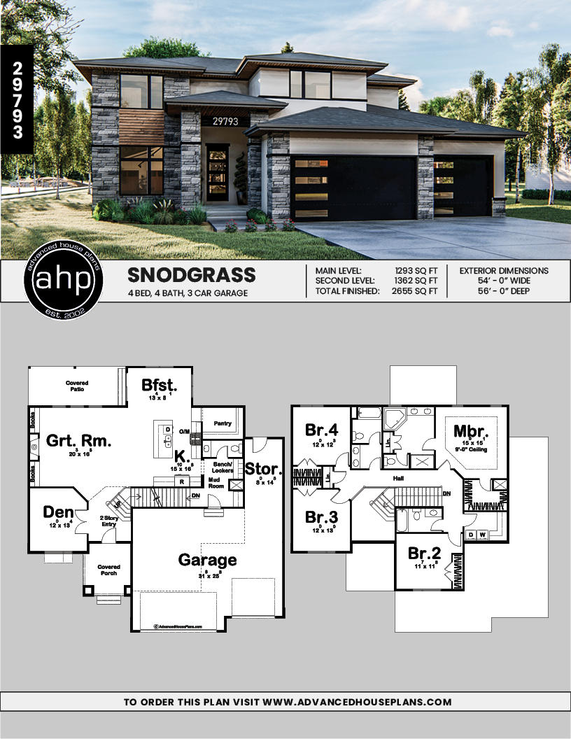 2 Story Modern Prairie Style House Plan Snodgrass Prairie Style Houses Family House Plans Modern Style House Plans