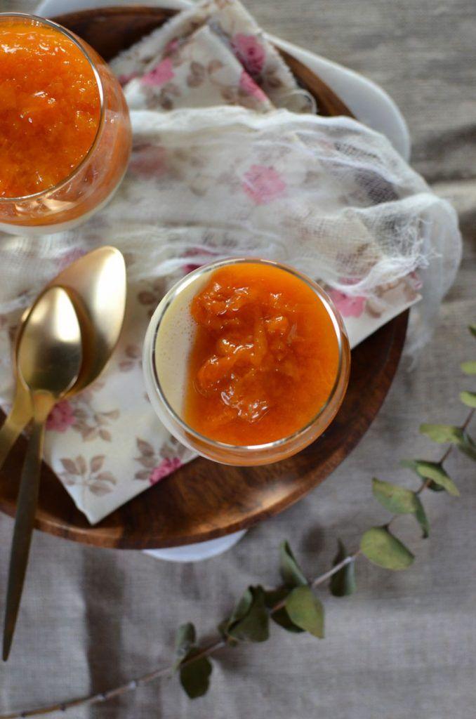 panna cotta au mascarpone et compot e d abricot recette desserts pinterest panna cotta. Black Bedroom Furniture Sets. Home Design Ideas