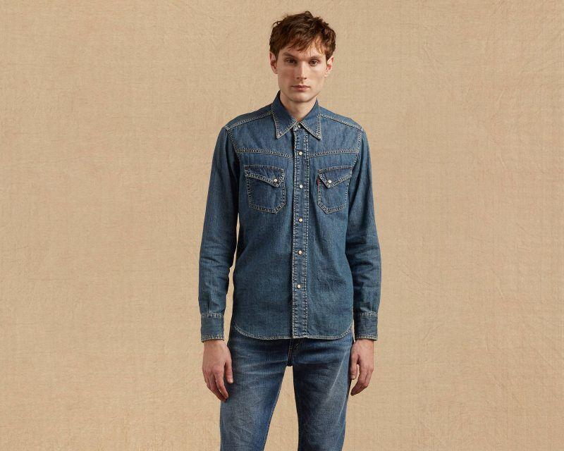 Revisit Denim Classics More With Levi S Vintage Clothing Western Denim Shirt Levis Vintage Clothing Vintage Outfits