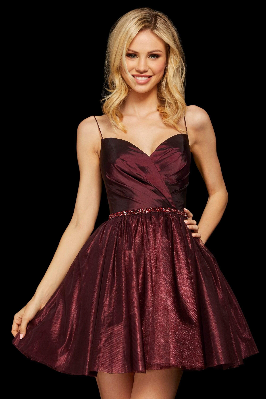 Sherri Hill 53003 Ruched Sweetheart A Line Short Dress Short Dresses Sherri Hill Dresses A Line Prom Dresses [ 3000 x 2000 Pixel ]