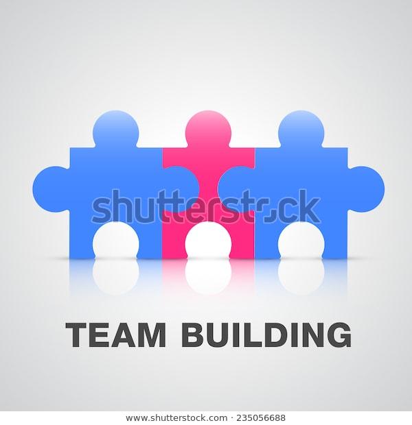 Team Building Puzzle Pieces Concept Stock Vector Royalty Free 235056688 Team Building Puzzle Pieces Concept