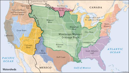 Watersheds In The United States Land Of Maps Page - Map of us land originally held by mexico