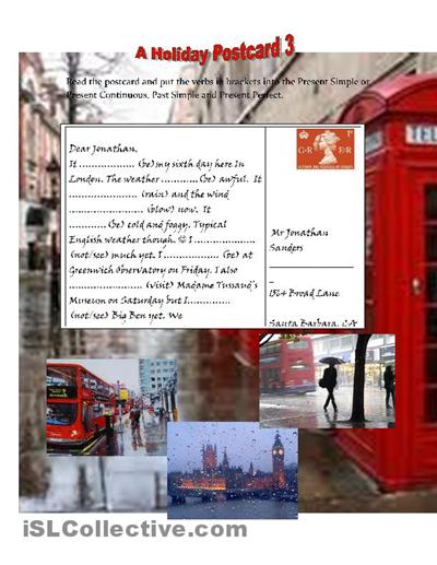 how to write postcard uk