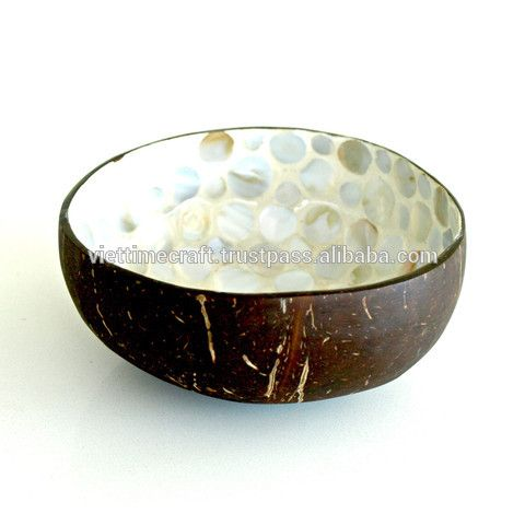 Gold Shell Inlay Coconut Bowl