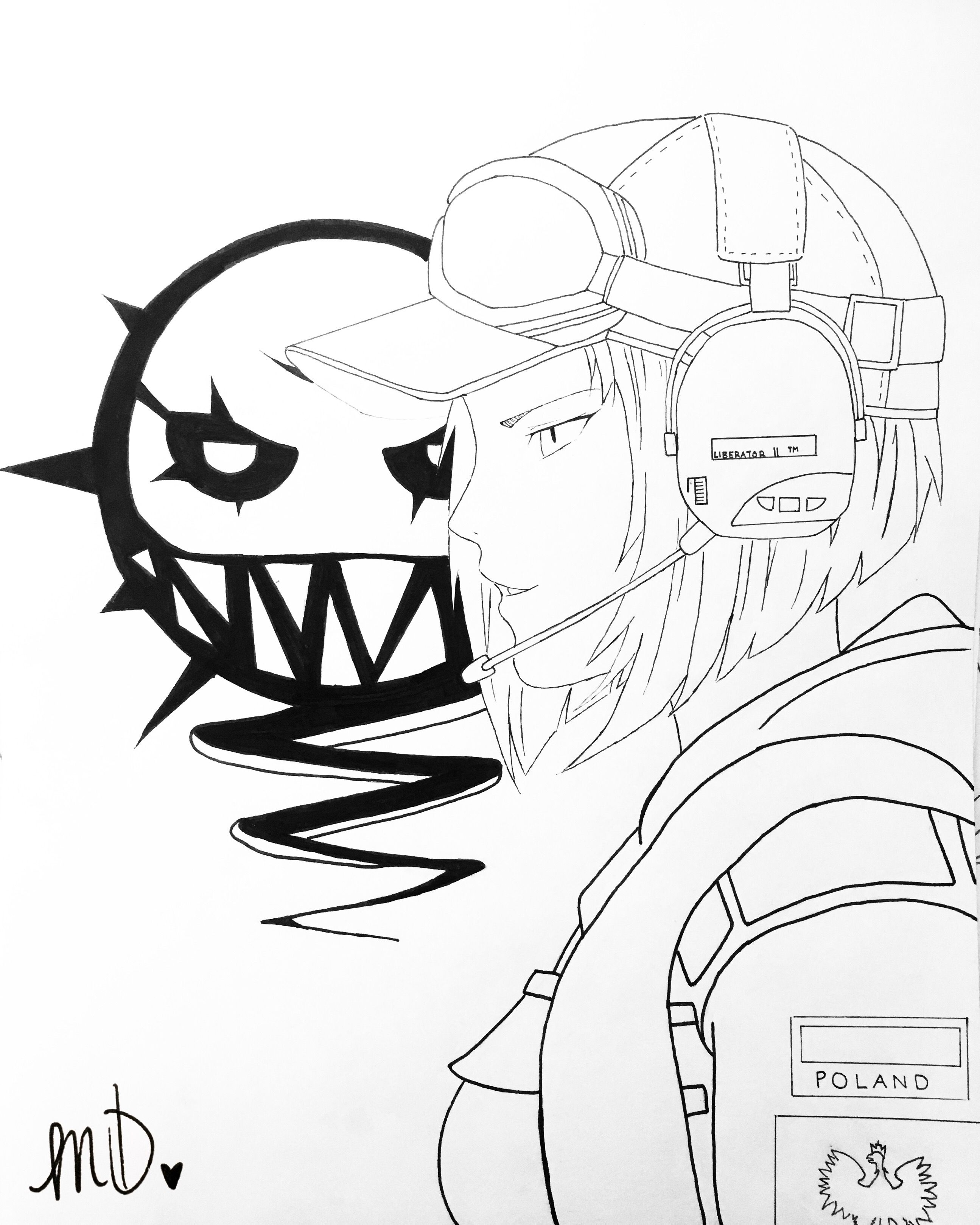 Drawing Of Ela From Rainbow Six Siege With Images Star Wars
