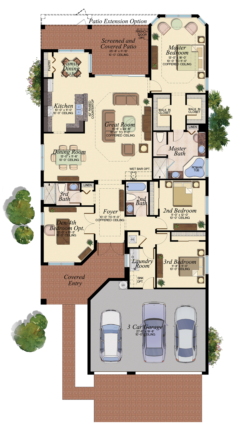 Cabernet New House Plan In Riverstone Naples Florida