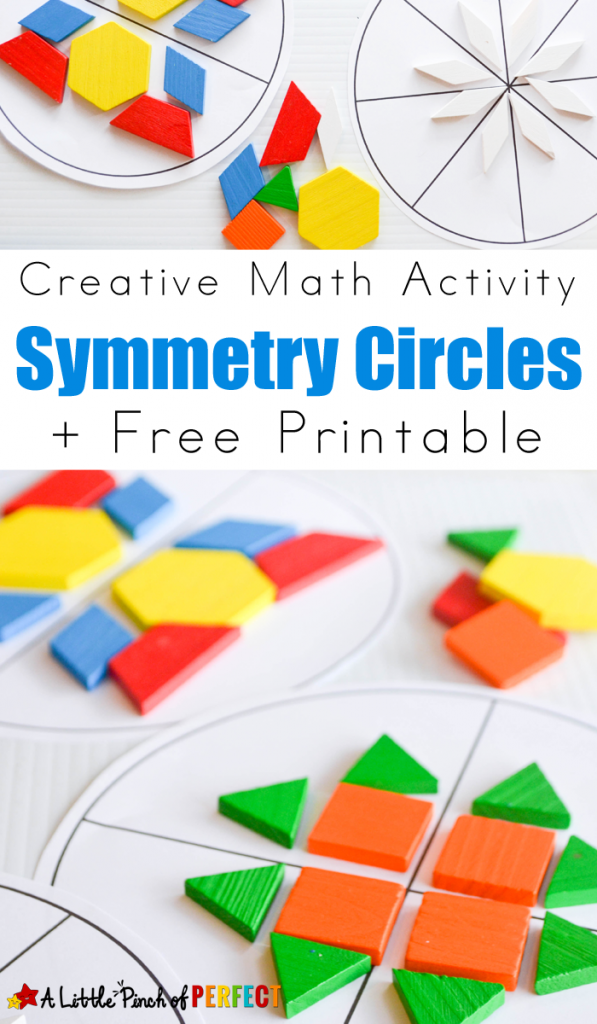 2nd Grade symmetry worksheets for 2nd grade : Symmetry Circles Math Activity and Free Printable - | Circle math ...