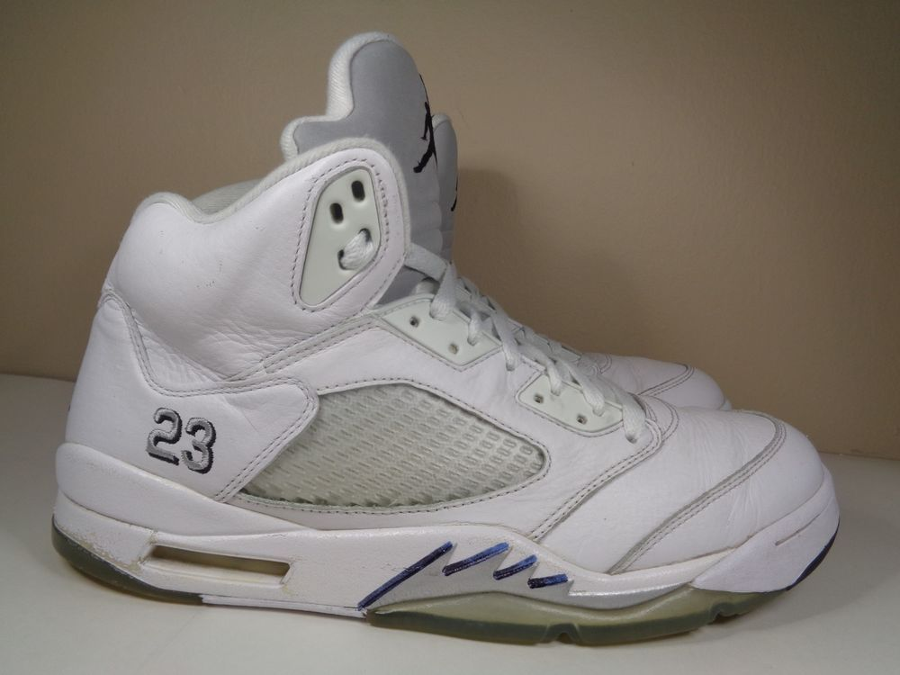 quality design b62cd 18299 Mens Nike Air Jordan V 5 Retro Metallic Basketball shoes size 12 US 136027- 130  Nike  BasketballShoes