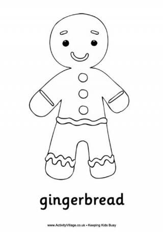 christmas gingerbread man colouring page printables pinterest