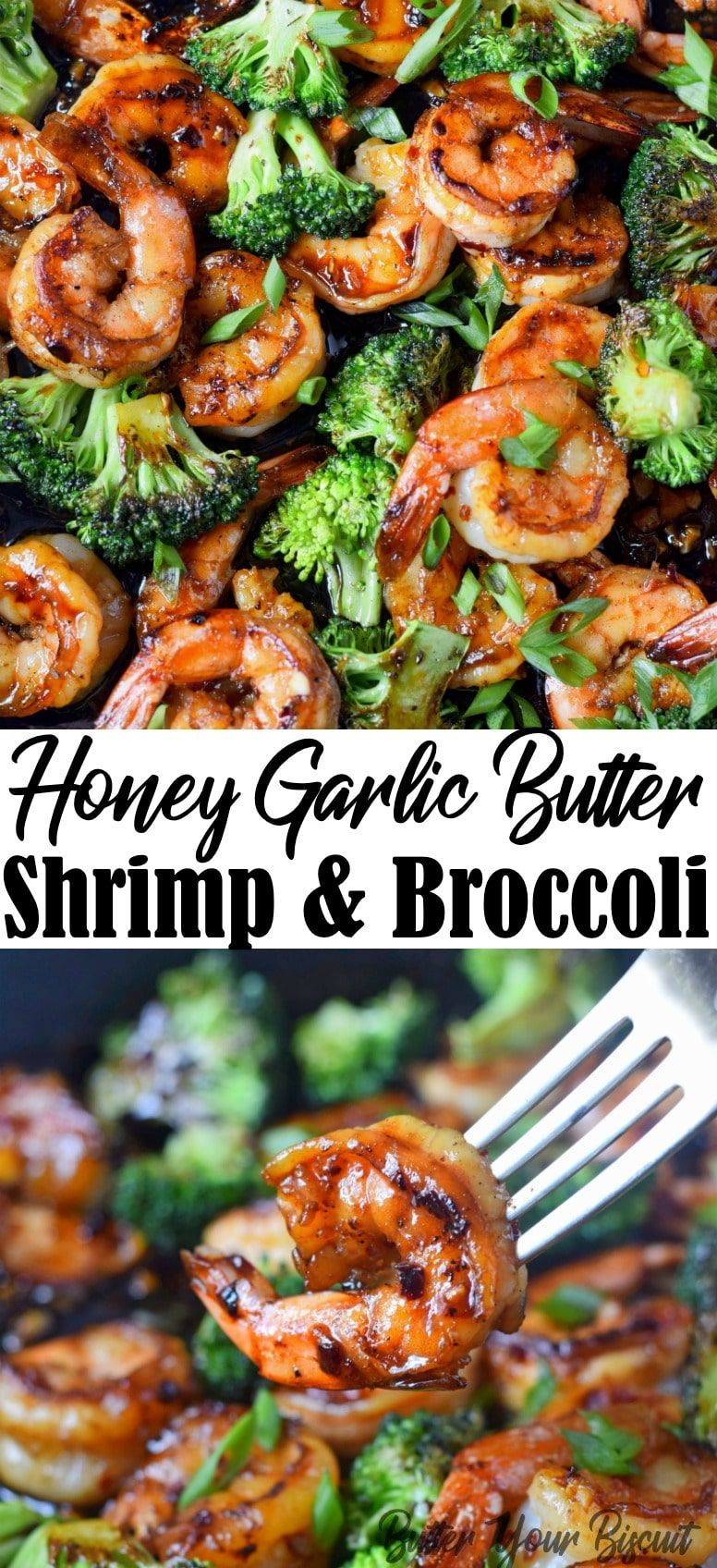 Honey Garlic Butter Shrimp & Broccoli - Butter Your Biscuit