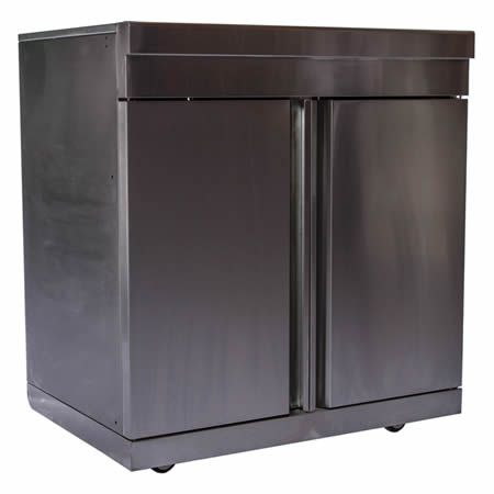 Swiss Grill Stainless Steel Double Door Cabinet Module With Images Outdoor Kitchen Cabinets Outdoor Doors Cabinetry
