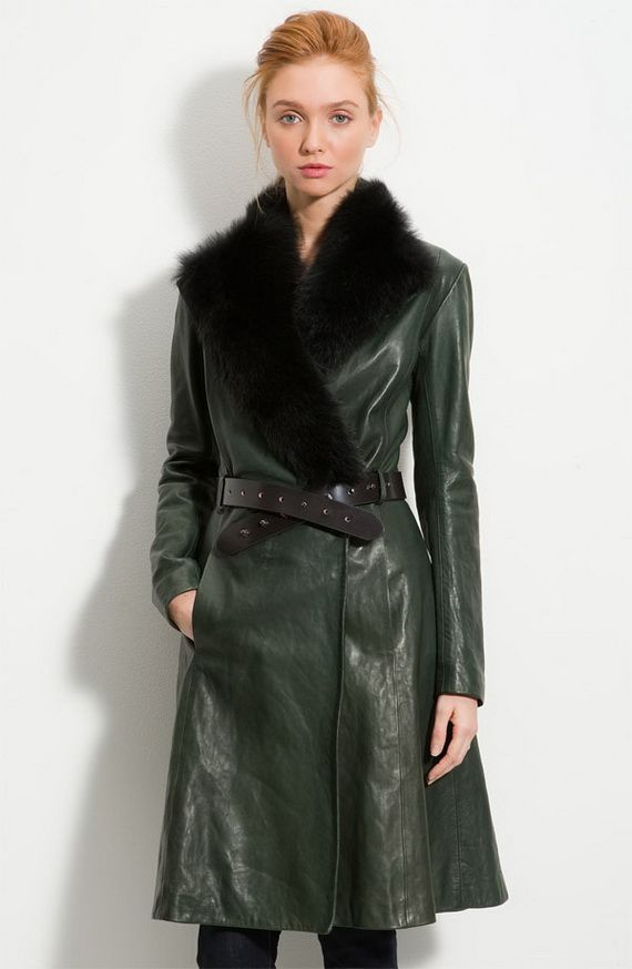 Long Leather Coats Women | fasionable | Pinterest | Long leather ...