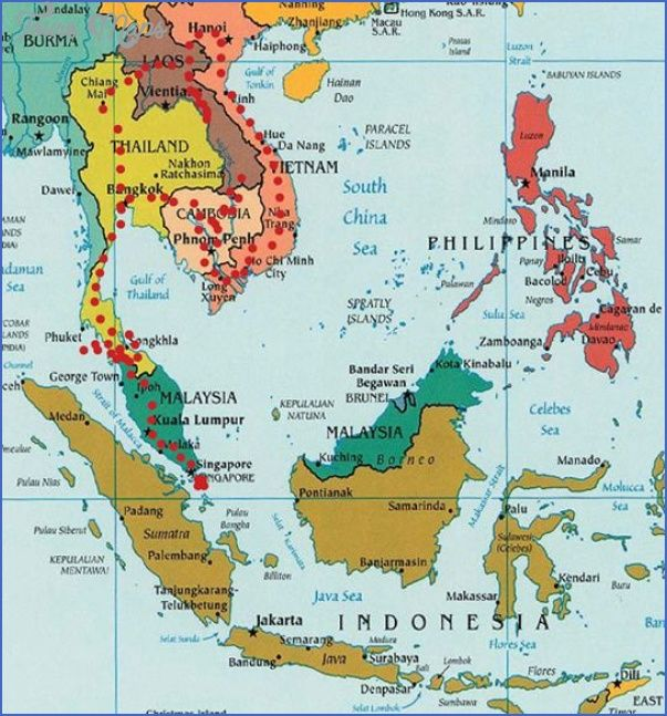 cool Asia map for travel