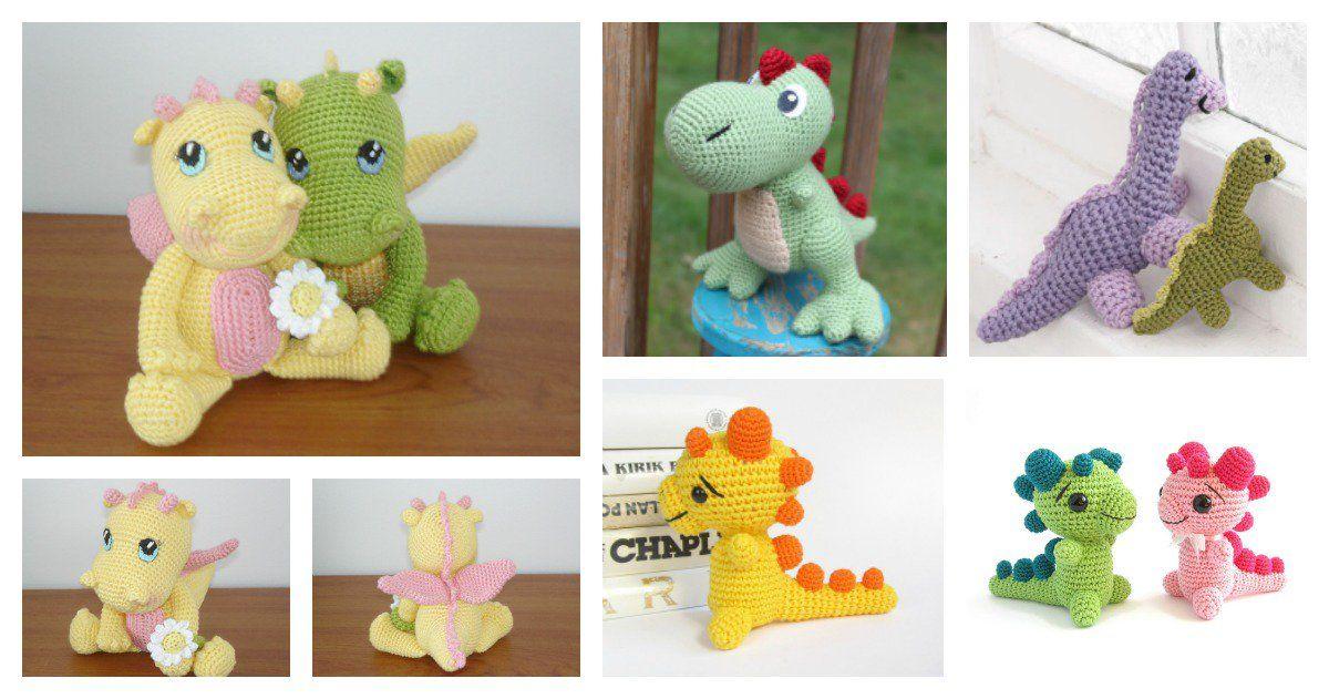 Crochet Amigurumi Dinosaur Free Patterns   Pinterest   Amigurumis ...