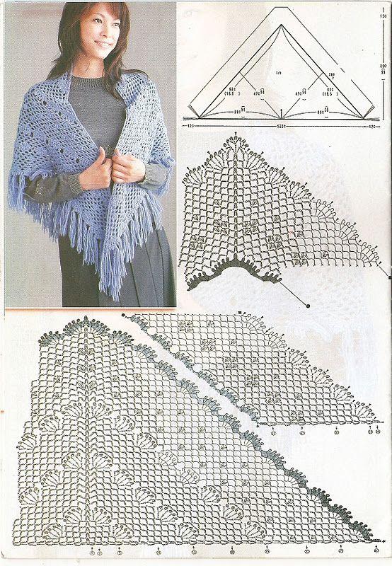 DE MIS MANOS TEJIDOS Y MAS...: Chales | crocheteando | Pinterest ...