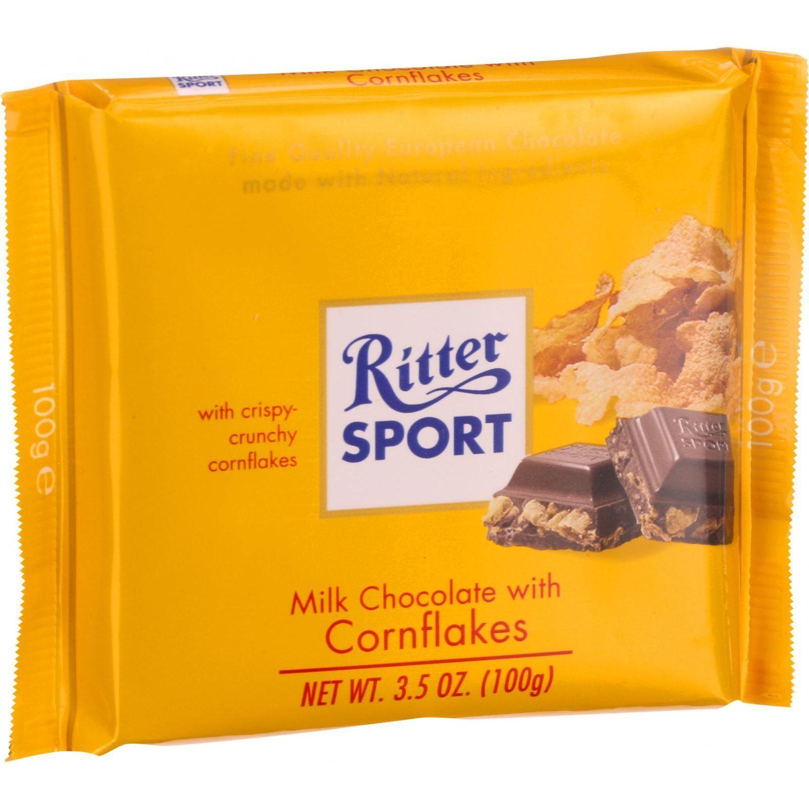 Ritter Sport Chocolate Bar Milk Chocolate Corn Flakes