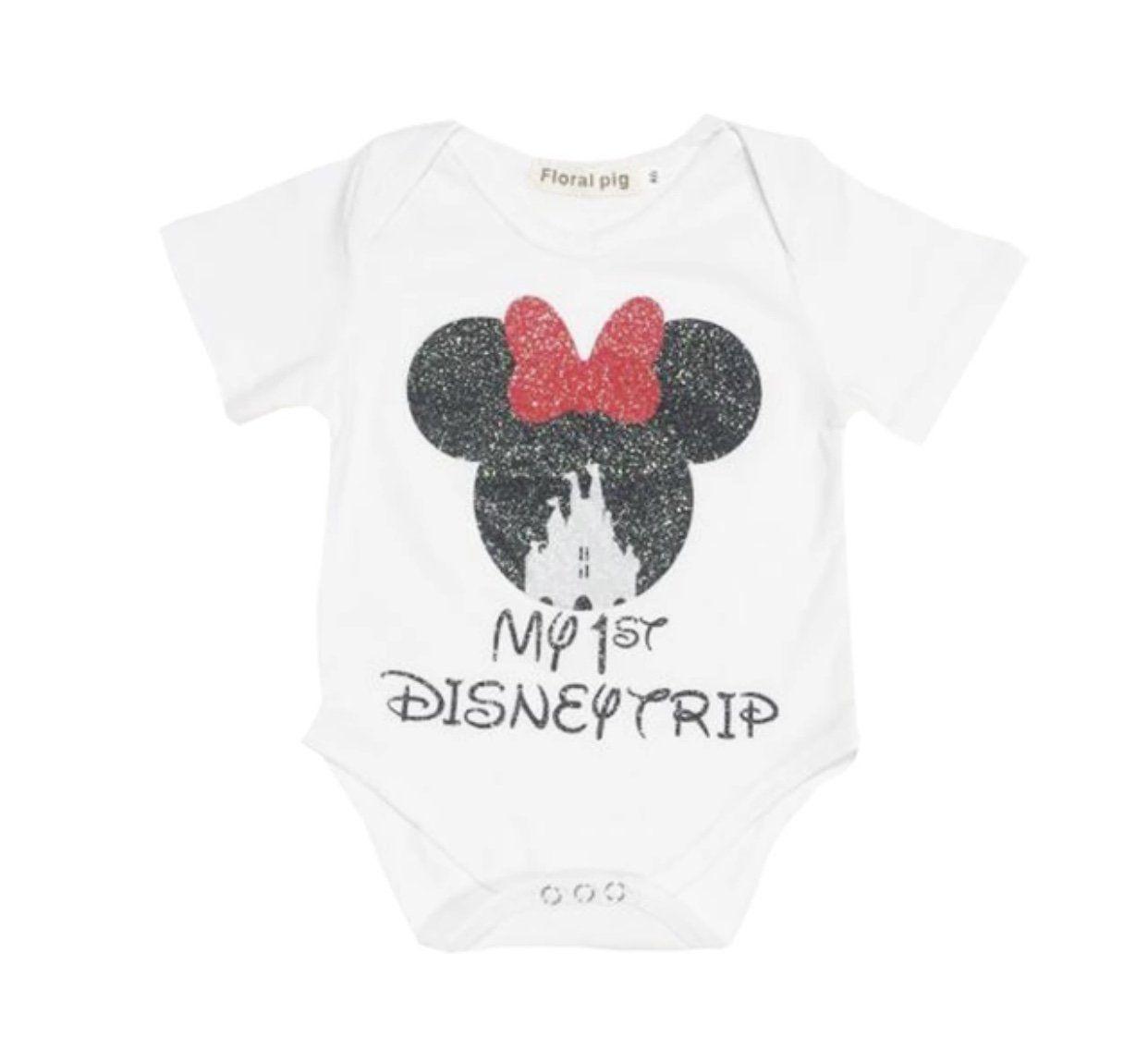 f0f06381f0654 Baby Girl My First Disney Trip Bodysuit Minnie Mouse Onesie ...