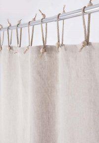 Hemp Shower Curtain Purely Natural 143cm Width X 180cm Drop